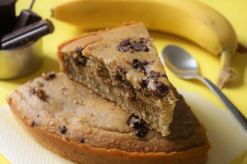quel plaisir de goûter à ce banana bread au chocolat