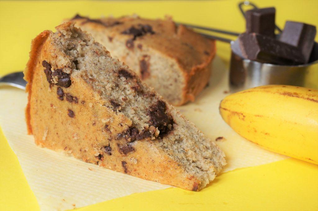 difficile de résister au banana bread encore plus quand il est au chocolat