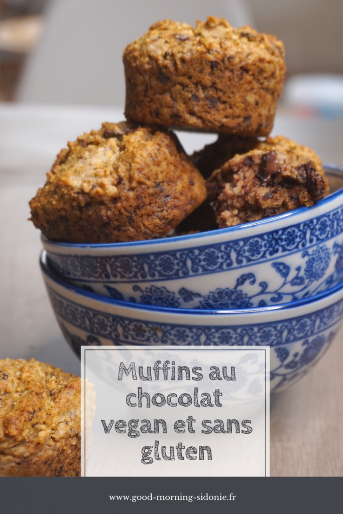 Goûtez de savoureux muffins au bon goût de chocolat, sans gluten et vegan